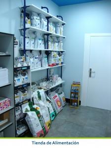 Tienda de Alimentacion de la Cliniva Veterinaria San Anton de Tomelloso